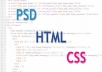 do your  html, css or responsive design