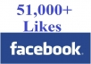 deliver 51,000+ REAL Facebook Page Likes, Real And Active Page Likes