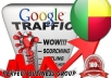 I send 1000 visitors via Google.bj Keyword to your website
