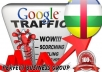 I send 1000 visitors via Google.cf Keyword to your website