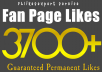 give you 3700+ PERMANENT Facebook Fanpage Likes within 4 hours
