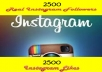 Provide 2500+ INSTAGRAM followers or 2500 Instagram likes to your Instagram Account Fast Delivery