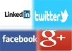 Make a page for your site or blog on facebook, google plus, linkedin and twitter