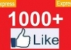 I will add 1000 +++ (1K) facebook likes fanpage likes to your fanpage