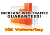 I will Deliver 10,000 unique visitors to your website