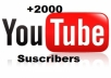 I will give you 2000 real subscribers to your YouTube channel without passwords