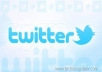 I will Give you 570+ Twitter Followers 100% Manually guarantee your page only
