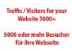 send you visitors to your website, more than 5000 users