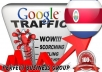 I send 1000 visitors via Google.co.cr by Keyword to your website