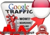 I send 1000 visitors via Google.co.id by Keyword to your website