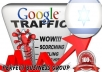 I send 1000 visitors via Google.co.il by Keyword to your website