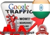 I send 1000 visitors via Google.co.in by Keyword to your website