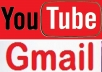 give you 100 Gmail Pva Accounts / YouTube Phone Verified Channel Created