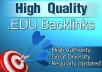 i will make 50 Edu backlinks & 200 PR1 to PR6 from High Authority Wiki Sites
