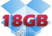 Give you 1 Brand New DropBox Account With 18GB of DropBox Storage Each one For DropBox Lifetime Usage