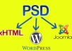 I will make a Wordpress Theme from PSD / HTML Website