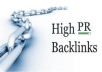 create 35 to 50 High Quality Backlinks from 35 PR9 Unique Authority Sites for