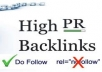 create 15 pr9 to pr7 profile backlink +25 pr7 to pr4 edu gov dofollow links+Ping for