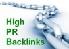 create for you 5 Manual Backlinks on PR3+ Websites for