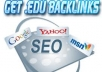 give you 10 PR 4 to 9 gov and edu backlinks to improve your serp and ping for