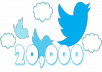 deliver 20000 [20k] twitter followers in extreme way to ur twitter by followers