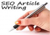 write On Page SEO Optimized Article