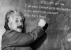 make Einstein write any message or any website link you want  On His Black Board