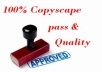 100% Copyscape Pass 500 Words Articles with Grammar checking