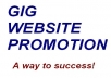 promote your gig website