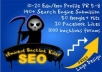 will shoot 700+ Angela backlinks to rock your site on top of Google, include edu and gov backlink