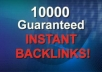 create 10,000 Verified Comment Backlink, Link for Natural Results with Various Pageranks for ....