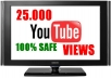 give you over 25.000 SAFE YouTube Views, likes, subs, favorites