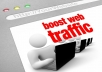 send unlimited genuine adsense safe traffic from google, facebook, twitter, youtube and pinterest for one month