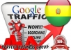 I send 1000 visitors via Google.com.bo by Keyword to your website