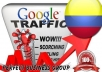 I send 1000 visitors via Google.com.co by Keyword to your website