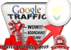 I send 1000 visitors via Google.com.cy by Keyword to your website