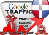I send 1000 visitors via Google.com.do by Keyword to your website