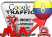 I send 1000 visitors via Google.com.ec by Keyword to your website