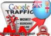 I send 1000 visitors via Google.com.fj by Keyword to your website