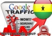 I send 1000 visitors via Google.com.gh by Keyword to your website