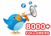 give you 8000+ twitter followers within 24 hours