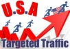 send Unlimited Guaranteed Adsense Safe Traffic From USA for One Month