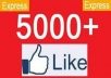 add 5000 Real Facebook Likes, Splits Available, Best quality and Quantity@@!