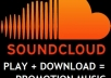 give you SAFE 10000+ soundcloud play or 8000 play + 1000 download to your Soundcloud Track within 24 hour [ Upto 3 Track ] @!@