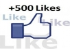 500+ High Quality Real, Active Facebook Likes or Fans to your facebook fan Page for