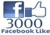 add 3000 [ REAL ] facebook like to your facebook likes fanpages,no bots,no fake for