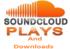 I will add Soundcloud 55,555 plays, 5,555 downloads and 100 followers, up to 5 tracks