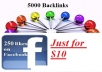 give you 5000 backlinks and 250 facebook likes in 2 days just