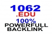 create 1062 Super .EDU Instant Backlink GUARANTEE for boost your website rangking in Search Engine Guarantee