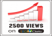 give you guaranteed 2500 real human youtube views to your video